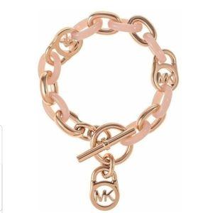 MK Fulton Rose gold & Blush Toggle Bracelet